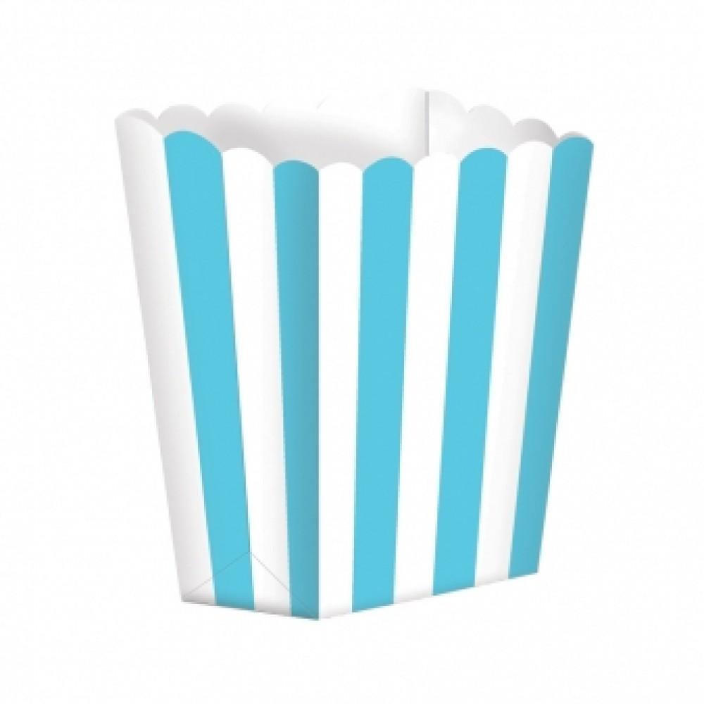 5 Candy Buffet Popcorn Treat Boxes caribean  6.3cm x 13.4cm x 3.8cm