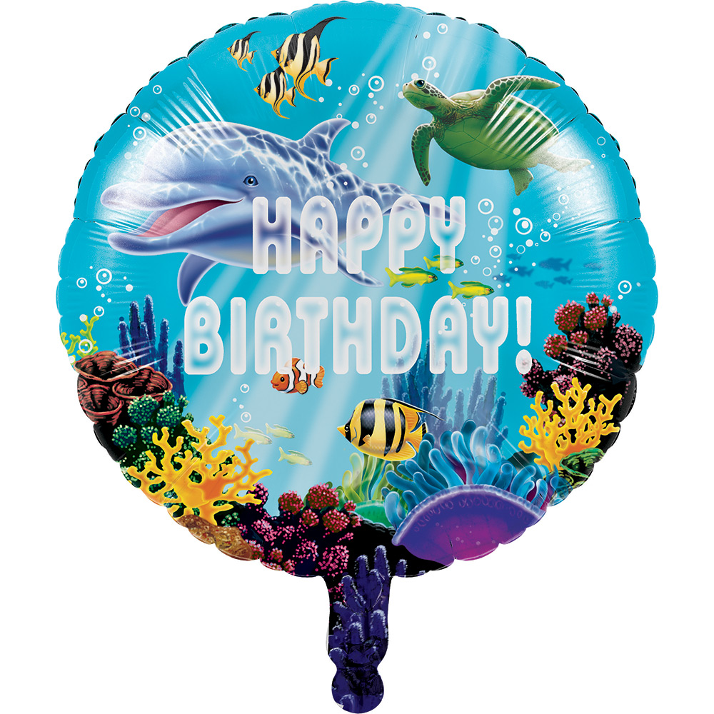 """OCEAN PARTY"" FOIL BALLOON [46CM (18"")]"